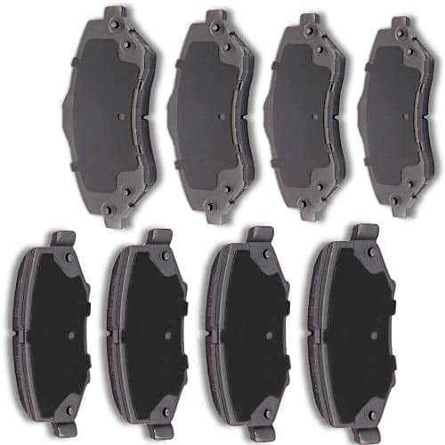 AUTOMUTO 8pcs Front Rear Ceramic Pads Brakes