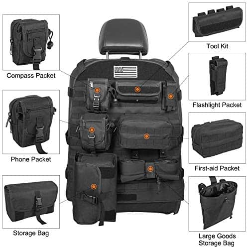 E-cowlboy Universal Seat Cover Case With Organizer Storage