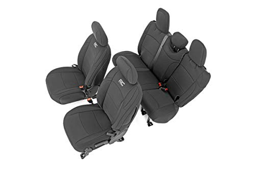 Rough Country Neoprene Seat Covers 91010, Black