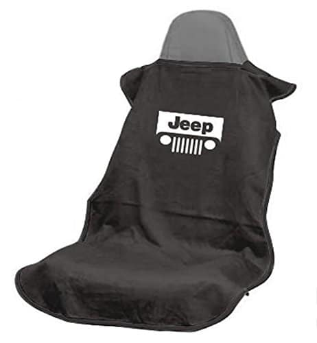 Seat Armour SA100JEPGB Black 'Jeep with Grille' Seat Protector Towel