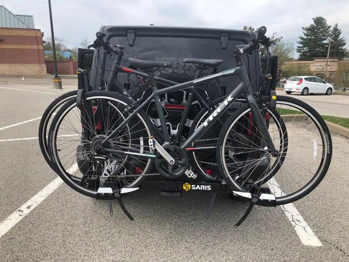 Spare tire-mounted racks