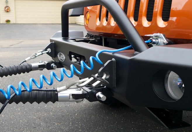 Install A Tow Bar To A Jeep Wrangler