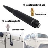 """5.7"""" Black Antenna in Heavy Gauge Billet Aluminum Replacement"""