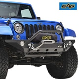 EAG Front Bumper with Fog Light Housing and Winch Plate