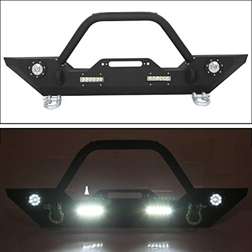 ECOTRIC Jeep Wrangler JK with Winch Lights- Front Bumper
