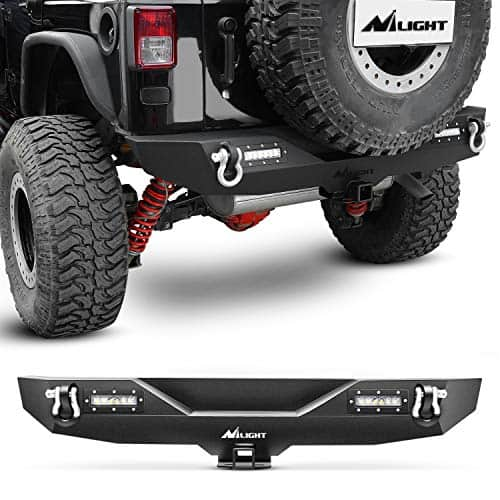 Nilight - JK-52A Rear Bumper Compatible for Jeep Wrangler JK