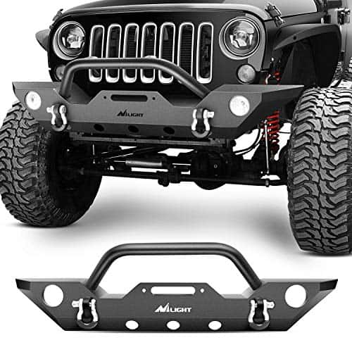 Nilight Rock Crawler Front Bumper with Fog Lights