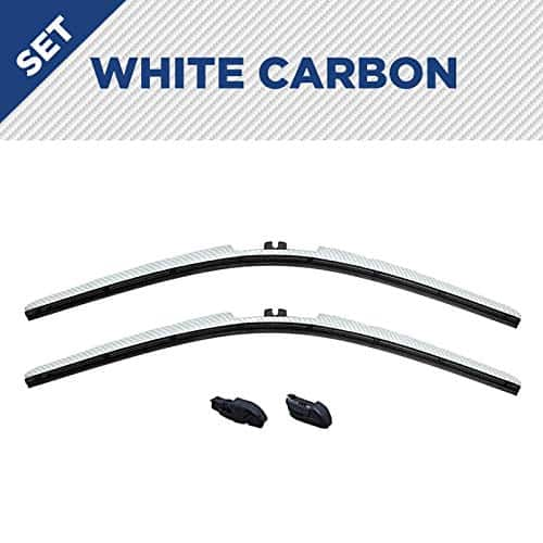 Clix Wipers - White Carbon Wiper Blades for Jeep Wrangler