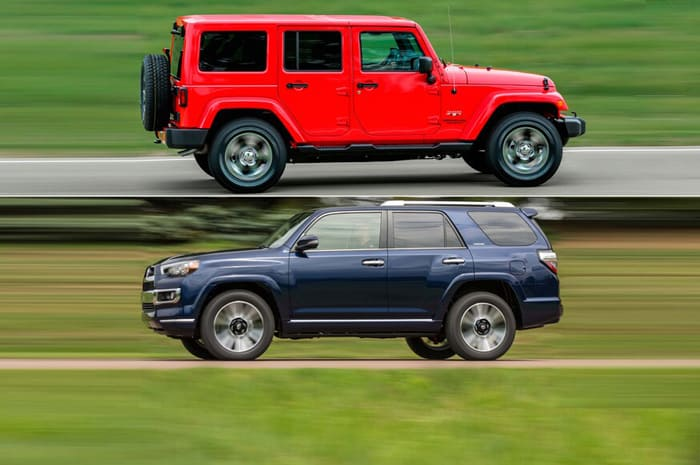 Jeep wrangler compare to other SUVs