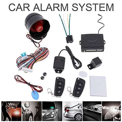 Universal 12V Auto Car Alarm Keyless Entry System With Remote Control