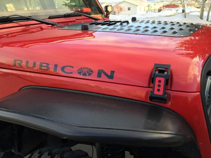 Hood latch mod for jeep